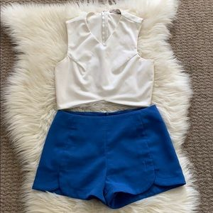 Forever 21 blue shorts size S
